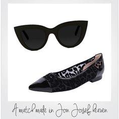 Date night. #JonJosef  >> http://www.jonjosef.com/flats/caspe-ii/leopard-mesh-combo