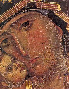 detail of the Vladimir Mother of God by jimforest, via Flickr