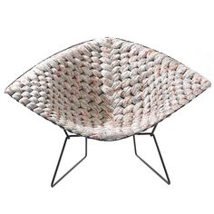 Original Bertoia Diamond Chair Revisited by Clément Brazille