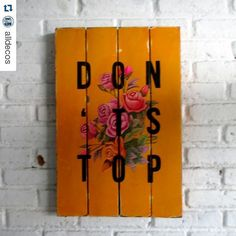 #Repost @alldecos with @repostapp  Maju terus gaess... Spray stencil on wood. 40 x 60 x 2 cm  #woodsign #homedecoration #homeandliving #vintage #alldecos by alldecostudio