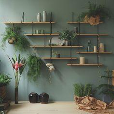 LINK Shelf, Setup 2, in Oak/Black By Studio Hausen - Fy