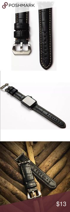 0ad98663bf4 Apple Watch Leather Band Black 42mm Apple Watch Leather Band Black 42mm  Accessories Watches Apple Watch