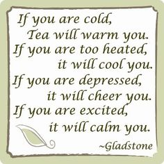 tea as panacea:  pan•a•ce•aˌpæn əˈsi ə(n.)(pl.)-ce•as.  1.a remedy for all ills; cure-all.  2.a solution for all difficulties.