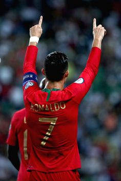 2019 - Cristiano Ronaldo of Portugal celebrates after scoring a goal during the UEFA Euro 2020 qualifying round Group B match between Portugal and Luxembourg in Lisbon, Portugal on . Soccer Guys, Football Players, Soccer Stuff, Cristiano Ronaldo Workout, Christano Ronaldo, Football 24, Cristiano Ronaldo Portugal, Euro, Real Madrid Team