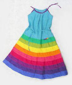 Платья ручной работы. Заказать радужное платье-сарафан. Ксения Берестовая. Ярмарка Мастеров. Летний сарафан, радуга, сарафан