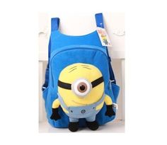 children s backpack Cute 3D eyes Despicable Me Minion Plush Backpack Child  PRE School Kid Boy and Girl Cartoon Bag School bag 75cf5ebf75361