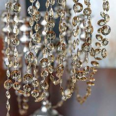 Champagne Acrylic Crystal Garland - New Items Crystal Garland, Beaded Garland, Garlands, Wedding Supplies, Party Supplies, Craft Supplies, Hanging Garland, Hanging Crystals, New Year Celebration
