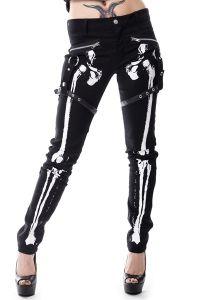 Vixxsin - Röhrenhose mit Skelett Aufdruck - X Ray Pants