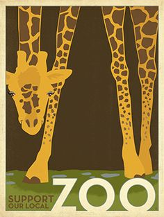 Direct Art Australia - Zoo Vintage Giraffe, $199.00 (http://www.directartaustralia.com.au/zoo-vintage-giraffe/)