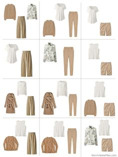 12 outfits from A Common Wardrobe in camel and ivory