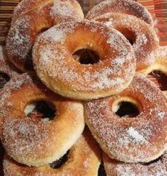 Χωρίς αυγά! Χωρίς γάλα! ΝΤΟΝΑΤΣ - Greek Sweets, School Snacks, Yams, Greek Recipes, Candy Recipes, Bagel, Doughnut, Donuts, Recipies