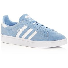 Adidas Men's Campus Suede Lace Up Sneakers ($80) ❤ liked on Polyvore featuring men's fashion, men's shoes, men's sneakers, ash blue, adidas mens shoes, mens suede shoes, mens sneakers, mens suede lace up shoes and mens lace up shoes