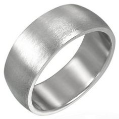 Brushed Finish Plain 8mm Men's Ring In Stainless Steel men's jewellery #mensfashion #mensjewellery