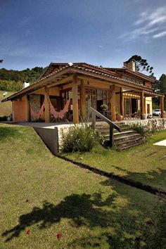 Architecture – Enjoy the Great Outdoors! House In The Woods, My House, Jardin Decor, Boho Home, Pergola Designs, Pergola Plans, Backyard Pergola, My Dream Home, Future House