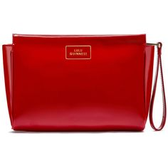 Lulu Guinness Women s Medium Katie Patent Leather Clutch - Red (9.140 RUB)  ❤ liked on Polyvore featuring bags 4699b5e4a08b5