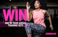 WIN 1 of 4 Adidas Training Gear Sets worth 500 You Fitness, Cosmopolitan, Gears, Training, Adidas, Summer, Coaching, Gear Train, Summer Recipes