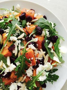 This super quick and easy sweet potato salad may never have happened had I not inadvertently contaminated my pomegranate this evening – tipping the gorgeous bright pink seeds onto a chopping … Feta Salad, Caprese Salad, Salad With Sweet Potato, Potato Salad, Raw Chicken, Pomegranate, Bright Pink, Salad Recipes, Salads