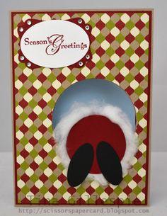Scissors Paper Card: Christmas