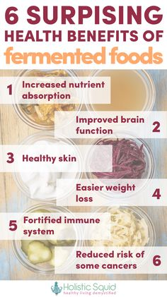 6 Surprising Health Benefits of Fermented Foods - http://holisticsquid.com/6-surprising-health-benefits-of-fermented-foods/
