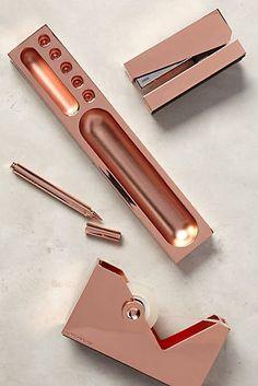 Copper-Clad Desk Accessories
