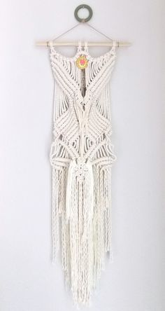 "Macrame Wall Hanging ""CORSET NO.2"" HIMO ART by May Sterchi"