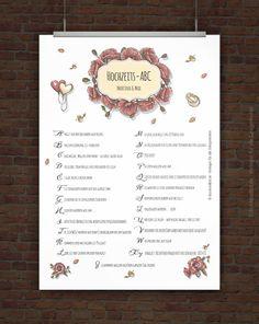 © Druckeselbst! Kostenloses Hochzeits-ABC zum Ausdrucken