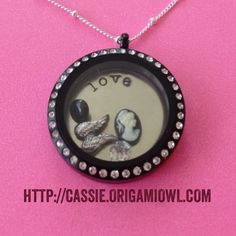 The new black locket from origami owl- love it! Hop over to my website and check out all of the new goodies. Be sure to sign up to get newsletters with information on new products, specials, etc.  http://cassie.origamiowl.com