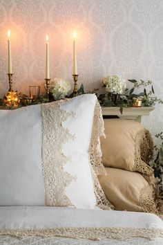 Victoria Magazine, Provence Style, Linens And Lace, Living Styles, Bed Styling, Pillow Talk, Luxury Life, Twinkle Twinkle, Linen Bedding