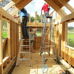 robins nest tiny house building process