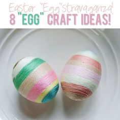 8 Egg Craft Ideas...Easter Eggstravaganza! #easter #crafts #eggs