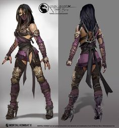 View an image titled 'Mileena Concept Art' in our Mortal Kombat X art gallery featuring official character designs, concept art, and promo pictures. Mortal Kombat X, Mortal Combat Personajes, Video Game Characters, Female Characters, Female Villains, Fantasy Characters, Kung Jin, Games Design, Character Inspiration