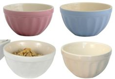 Müslischale Mynte Ib Laursen *rosa, blau, weiss* shabby nordic sky, english rose Mixing Bowls, Shabby, Tableware, Shopping, Pink, Blue, Bowls, Dinnerware, Dishes