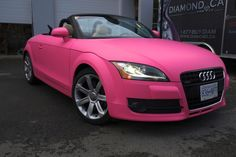 New Cars girl 2019 Pink Audi TT Convertible Girly Cars for Female Drivers! Love Pink Cars Its the d Audi Tt Cabrio, Allroad Audi, Hot Pink Cars, Hot Cars, Ford Gt, Jeep Rose, Dream Cars, Peugeot, Luxury Sports Cars
