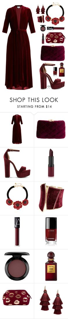 """""""Burgundy Velvet"""" by nans0717 ❤ liked on Polyvore featuring LUISA BECCARIA, Serpui, Steve Madden, Kate Spade, GUESS by Marciano, NARS Cosmetics, Chanel, MAC Cosmetics, Tom Ford and Design Lab"""