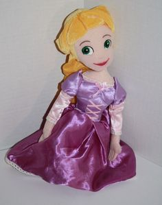 """Disney Princess RAPUNZEL Plush DOLL from Tangled. She's a Soft Stuffed Toy about 15"""" in kneeling or sitting position from Northwest Co and Disney 2011 #Disney #Rapunzel"""
