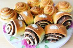 Nutella- und Zimt-Zucker-Schnecken
