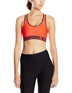 Under Armour HeatGear Alpha Women's Sports Bra - Small - Red. Double-Layer HeatGear® Fabric - This super-smooth fabric delivers superior next-to-skin feel and lasting comfort. Mid-Impact Support - Providing excellent support, so you can stay fit and focused. Signature Moisture Transport System - Wicks sweat away from the body, keeping you cooler and drier. 4-Way Stretch Fabrication - This lighweight fabric improves mobility and accelerates dry time. Classic Pullover Style - With racer…