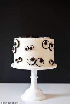 Halloween Monster Eye Cake