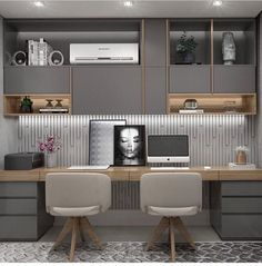 Small Office Design, Office Interior Design, Office Interiors, Home Office Layouts, Home Office Decor, Home Decor Bedroom, Study Room Design, Home Room Design, House Design