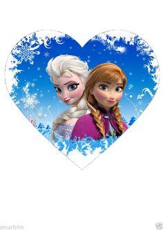 Frozen Disney Heart Cake Topper Party Edible Rice Paper DIY IMG LL | eBay