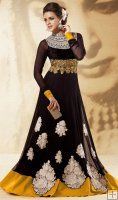 Beauteous Black Churidar Kameez Set
