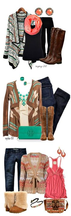 Aztec fashion || Fall fashion ideas || Click through for sources Love the sweaters ❤️