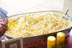 popcorn bar/ Curious George Party