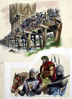 The Battle of Stirling (Original) (Signed) art by Peter Jackson at The Illustration Art Gallery British History, Art History, Battle Of Stirling Bridge, Jackson, William Wallace, Plantagenet, Medieval Armor, Illustration Artists, Sci Fi Art