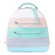 Moderner Rucksack aus Leder in Pastell / modern and compact backpack in pastel colours made by V. Gordievska via DaWanda.com