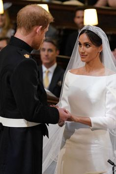 Prince Harry and Meghan Markle during their wedding service, conducted by the Archbishop of Canterbury Justin Welby in St George's Chapel at Windsor Castle on May 2018 in Windsor, England. Meghan Markle Wedding Pictures, Meghan Markle Photos, Prince Harry Et Meghan, Princess Meghan, Pippa Middleton, Lady Diana, Prinz Harry Meghan Markle, Harry And Meghan Wedding, Markle Prince Harry