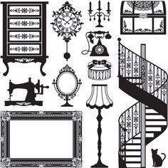 Stock Antique Furniture Vector Vetor, Imagens em vetor gratuitas - Vector.me