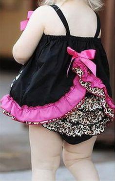Vestido frufru + tapa fralda oncinha