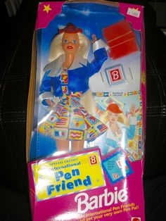 1995 MATTEL SPECIAL EDITION INTERNATIONAL PEN FRIEND BARBIE  NRFB Damaged Box #Mattel #DollswithClothingAccessories