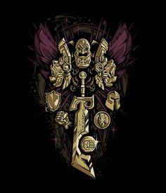 J!NX : World of Warcraft Paladin Legendary Class Premium Tee